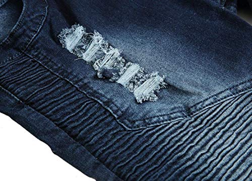 darkblue Da Usati Fit 403 Jeans Pantaloni Denim Uomo Regular Stonewashed Skinny 4vqxRw