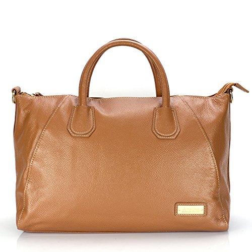 Cowhide aretha 141141 Genuine ca Handbag Top Leather Handle Satchel 6Oz6q