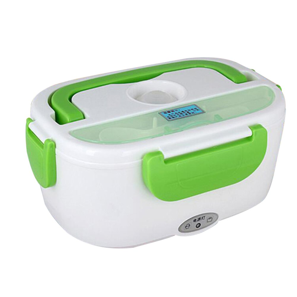Zehui Portable Bento Meal Heater Food Warmer Container Electric Heating Lunch Box Green