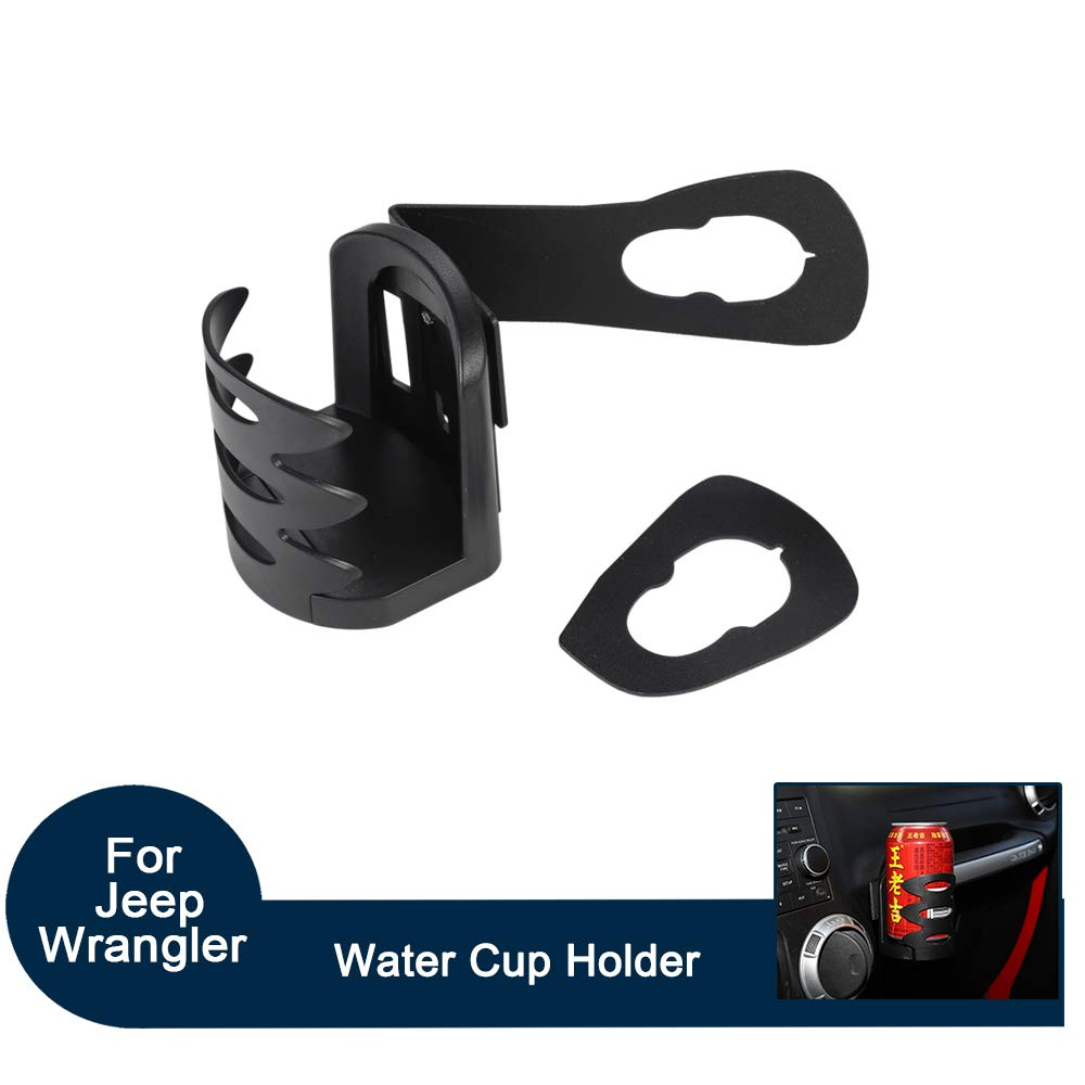 Jade Onlines Multi-Purpose Cup Bottle Drink Holder for Jeep Wrangler JK Rubicon Sahara Sport 2007-2018 2Door 4Door