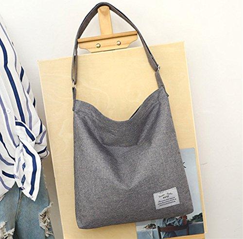Casual Canvas Shoulder Bag ZIIPOR Hobo Bag Black Bag Bag Women's Crossbody Shopping 8BFq6