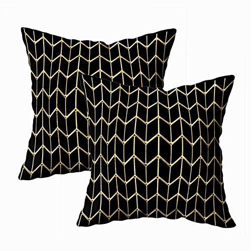 - EMMTEEY Throw Pillows for Couch Pillow Covers,18 Pillow Covers, 18x18 Pack 2 Pillow Covers Home Throw Pillow Covers Sofa Cushions Render Lattice Gold for Sofa,3D Square Double Sided Printing