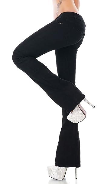 Pantalón vaquero elástico para mujer, de corte Bootcut y ...