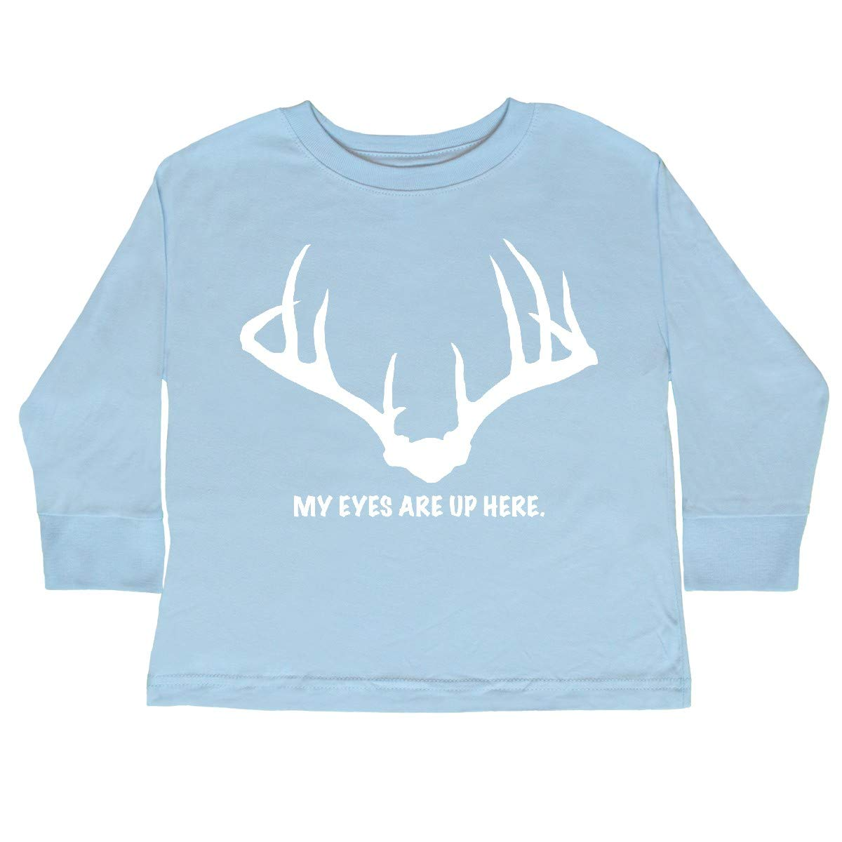 inktastic My Eyes are Up Here Toddler Long Sleeve T-Shirt