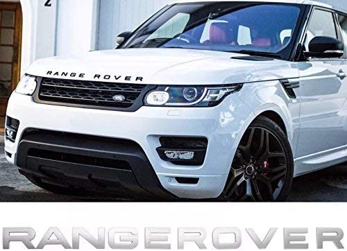 Frenchic Range Car Rover Decoration 3D Badge Sticker Metal Color Gross Silver
