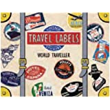 World Traveler Luggage Labels: Vintage Stickers (Travel Stickers)