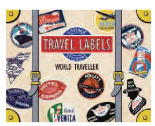 World Traveler Luggage Labels (Travel Stickers)