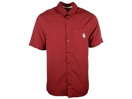 fd30d4c8a Amazon.com : Nike Oklahoma Sooners OU Button Up Territory Crimson ...