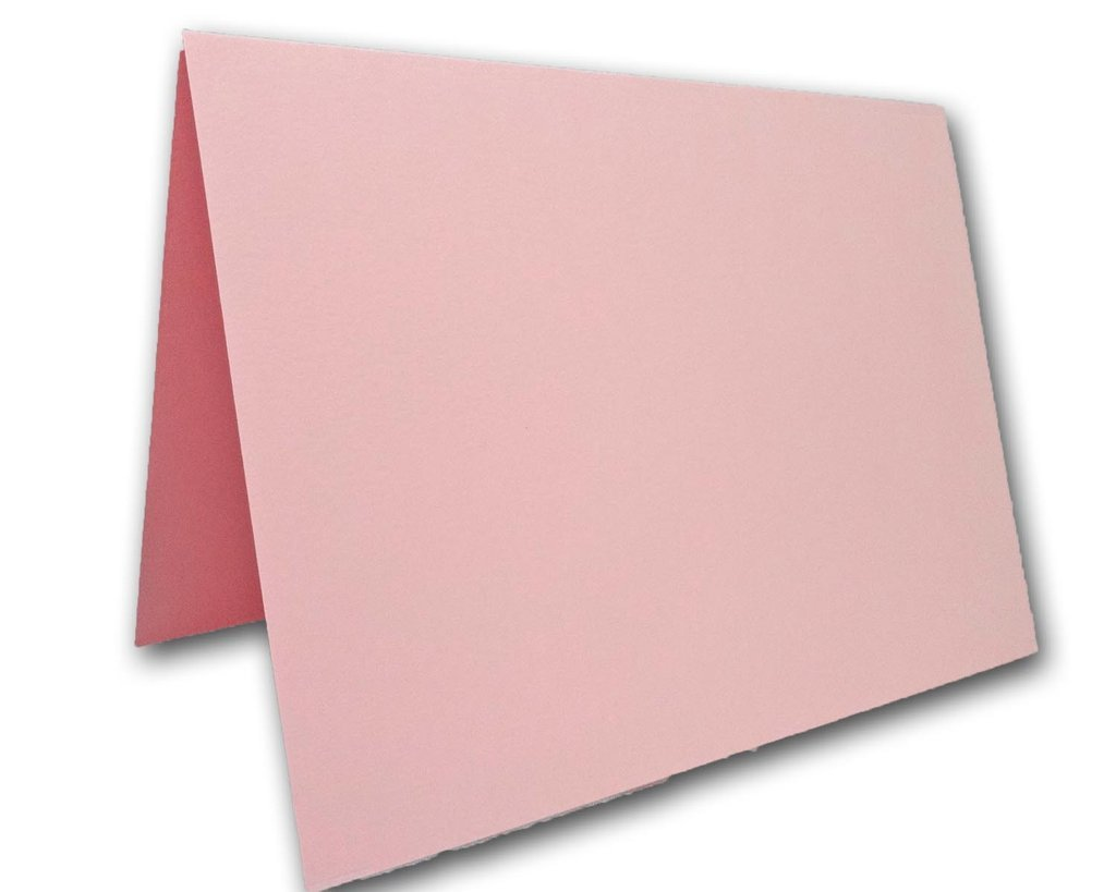 Blank Colorful Place Cards Tent Cards | Size 3.5'' x 5'' Flat 2.5'' x 3.5'' Folded (50, Pink)