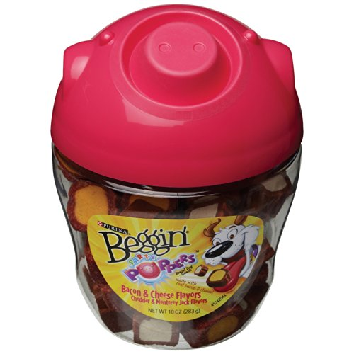Beggin' Party Poppers Pig Head Canister - 10oz 10 Popper