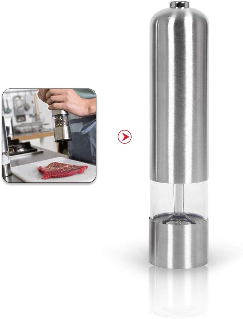 molinillos autom/áticos y Ajustables condimento de Mesa Molinillo de Grano de Acero Inoxidable kitchen-dream Molinillo de Pimienta