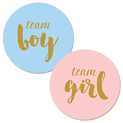 Amazon Gender Reveal Stickers Team Boy And Team Girl Baby