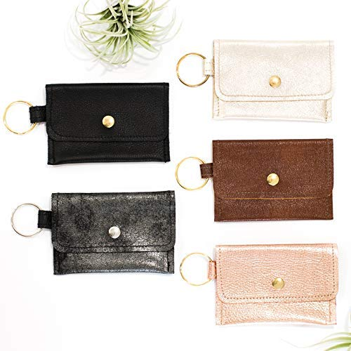 Amazon com: Keychain Wallet - Small Leather Wallet - Card