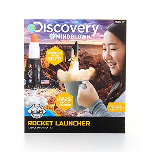 - Discovery Kids Fly High Rocket Launcher Science Experiment Kit, Air and Water Pressure Powered Design