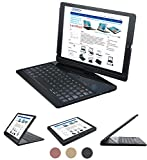 ipad pro 10.5 (2017) case with keyboard compatible cover - Lenrich 360 rotatable Apple iPad Pro 10.5 Bluetooth Keyboard Wireless Folio swivel stand Auto Sleep Wake up (Black)