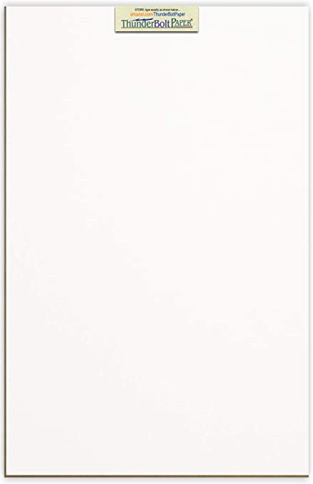 10 Sheets Chipboard 24pt white 1 side Light Medium Weight Thickness PaperBoard .024 point 11X14 Inches 11 X 14 Caliper White Coated Cardboard Paper Scrapbook|Picture-Frame Size