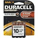 Duracell Coppertop AAA Alkaline Batteries 1.5 Volt 8 Each (Pack of 3)