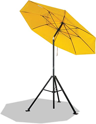 Black Stallion UB150 FR Industrial Umbrella And Tripod Stand Combo Set