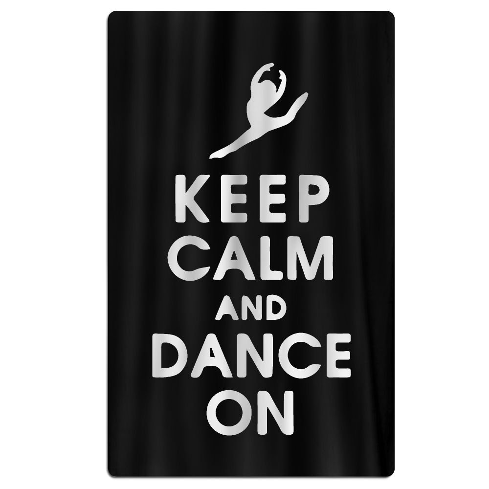 Keep Calm And Dance On 100% Polyester Adults Beach Towels Unisex Bath Towel