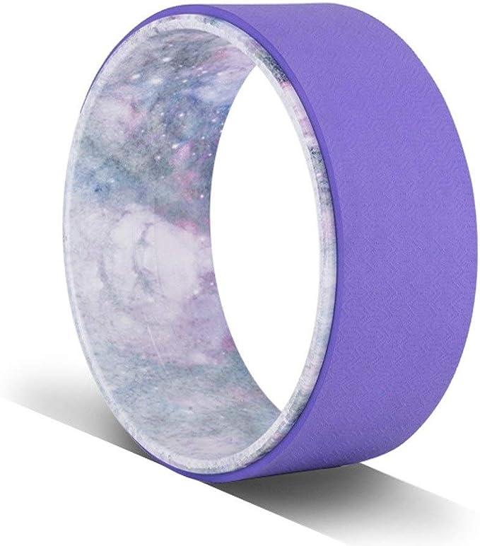 HWY-JJ Yoga Rueda Auxiliar, Yoga Estiramiento de Ruedas no Slip Mejorar la Movilidad, más Fuerte más cómodo Dharma Yoga Prop de Ruedas, for Espalda, Las Caderas, Rueda de Yoga (Color : Purple):