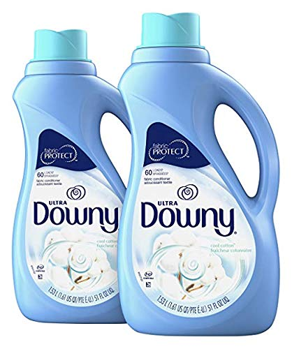 Downy Ultra Cool Cotton Liquid Fabric Conditioner, 2 Pack 51 OZ Each (2 Pack 4 Bottles Total)