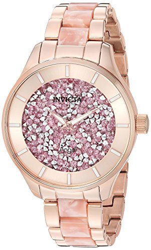 - Invicta Women's Angel Quartz Watch with Stainless-Steel Strap, Two Tone, 18 (Model: 24663)