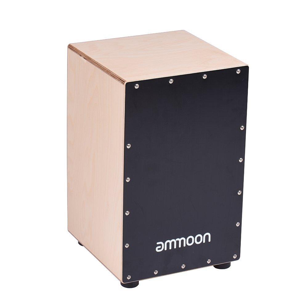 ammoon Cajon Box Drum Hand Drum Birch Wood with Strings Carrying Bag BHBUKPPAZINH1951