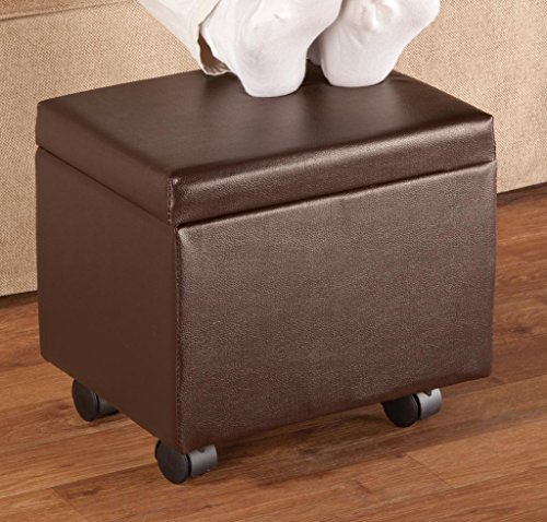 Flip Top Storage Ottoman by OakRidgeTM Accents, Brown