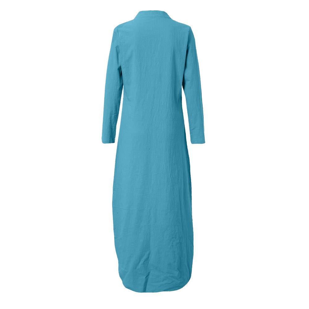 Damen Sommer Floral Beach Kleid Midi Rundhals Smock Dresses Kleid Strandkleid