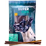 SUPER CAN BULLYSTICKS 12-inch Taffy Esophagus Gullet Sticks for Dogs [10 Pack] by SuperCan Bully Sticks, Premium All Natural Dog Treats and Chews. (9 oz) For Sale