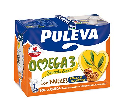 Puleva Leche Omega 3 con Nueces - Pack de 6 x 1 l - Total: 6 l: Amazon.es: Amazon Pantry