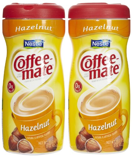 Alere Coffee-mate Powdered Creamer Canisters-Hazelnut, 15...