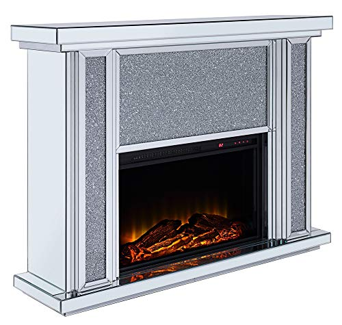 Cheap Acme Furniture Fireplace in Mirrored and Faux Stone Finish Black Friday & Cyber Monday 2019
