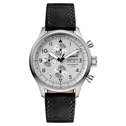 Ingersoll Men's Automatic Stainless Steel and Leather Casual Watch, Color:Black (Model: I01901)