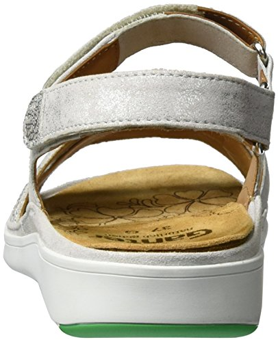 Ganter Women's Gina-g Sandals, Mocca-Stone Silver (Offwhite)