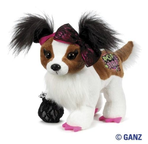 (Webkinz Rockerz - Papillon Dog with Trading Cards)