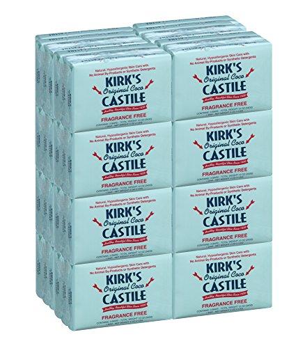 Kirk's Original Coco Castile Soap, Fragrance Free (48 Pack) (Soap Fragrance Bulk)