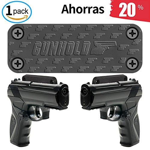 Gun Magnet Mount para ocultar, mostrar o llevar su arma de mano, rifle, pistola, revólver, escopeta - fuerte 35 lb titulado...