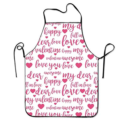 - Plbfgfcover Unisex Waterproof Aprons Happy My Valentine Apron for Kitchen BBQ Barbecue Cooking Gardening Waterproof Durable and Great Gift Suit for Men Women Creative Design Bib