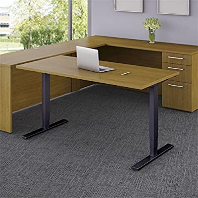 "Bush Business 48"" Height Adjustable Standing Desk in Modern Cherry"