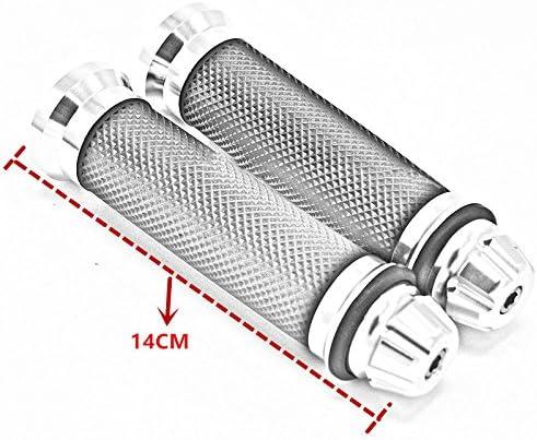 Gold Aluminum Motorcycle 22mm Handle Bar Rubber Gel Hand Grips CNC Bar End 7//8 for Suzuki GSXR 600 7500 1000 1300