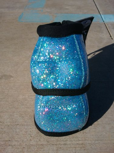 PROFESSIONALS CHOICE EQUINE SECURE FIT HOOF OVERREACH BELL BOOTS - GLITTER - ALL COLORS & SIZES (Turquoise Blue Glitter, Large) - Pink Horse Bell Boots