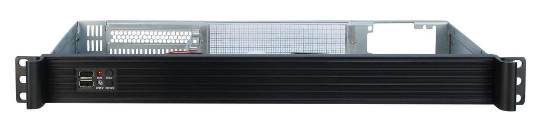 Estante, Servidor, Acero, Mini-ITX, Negro, 1U Inter-Tech IPC-K-126L Carcasa de Ordenador Estante Negro Caja de Ordenador
