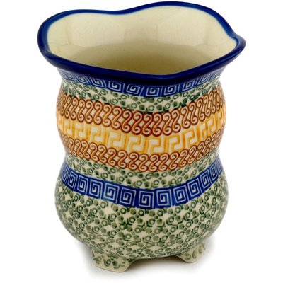 (Polish Pottery Vase 6-inch Grecian Sea)