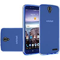 HR Wireless Crystal Transparent TPU Case for ZTE Grand X 4 - Dark Blue