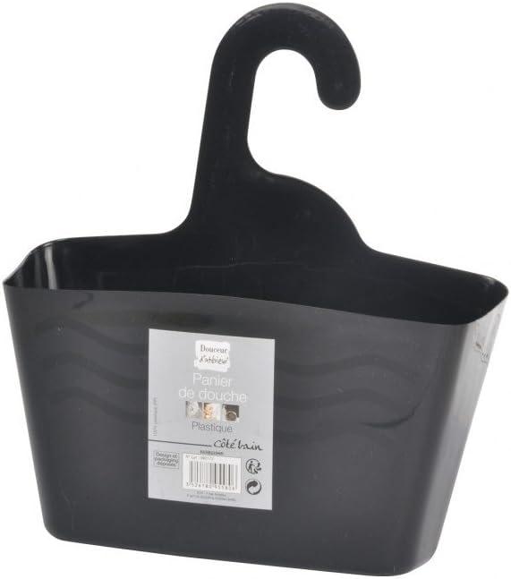 Douceur d/'Int/érieur Plastic Hanging Shower Basket 24/x 9.5/x 25.6/cm White