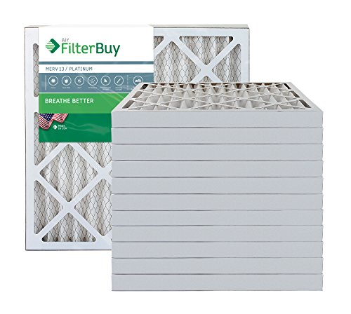 FilterBuy 20x20x2 MERV 13 Pleated AC Furnace Air Filter, (Pack of 12 Filters), 20x20x2 – Platinum from FilterBuy