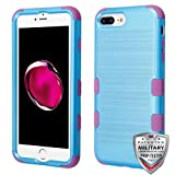 iPhone 6 Plus/6s Plus/7 Plus/8 Plus Case, Mybat Tuff Dual Layer [Shock Absorbing] Protection Hybrid Brushed PC/Silicone Case Cover for Apple iPhone 6 Plus/6s Plus/7 Plus/8 Plus, Blue/Purple