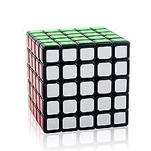 D-FantiX Yj MoYu 5x5 Speed Cube 5x5x5 Puzzle Cube Black 63.5mm