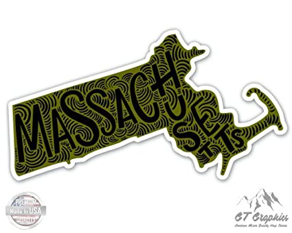 Choose Size & Color Massachusetts Vinyl Sticker Decal State MA Home Décor Items